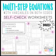 multi step equations self check