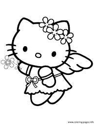 1 shaped coloring and activity book (80 pages, 30 stickers); Angel Hello Kitty Coloring Pages Printable