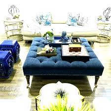 light blue ottoman. Blue Tufted Ottoman Velvet Light Charming Living Room Within Large .