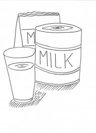Drinken Verschillende Melk Kleurplaten
