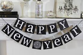 ... Stylish Black and White Hanging Words for Table Decoration in New Year  ...