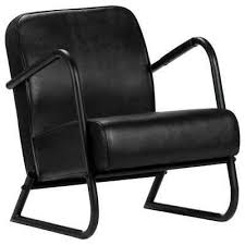 <b>Relax Armchair Black Real</b> Leather 8719883667157 | eBay