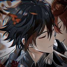 Match profile matching profile pictures matching pfp matching icons heart sign we heart it anime ships aesthetic anime anime couples. Zhongli X Childe Icon Made By Me In 2021 Profile Picture Icon Anime Icons