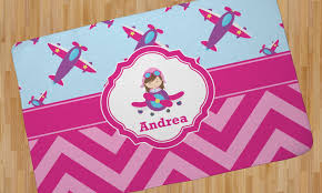 airplane theme for girls area rug personalized