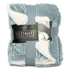 Life Comfort Ultimate Sherpa Throw Blanket