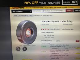 Dayco Idler Pulley Size Chart New Idler Pulley Much Smaller Then Old One Ranger Forums