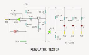 motorcycle regulator rectifier tester circuit electronic the op amp ic1 a along c1 r1 r2 r3 r5 and r6 is configured as an integrator r1 r2 forms a voltage divider which provides about 7v as