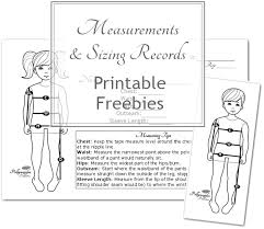 Free Printable Sizing Measurement Cards Pollywoggles