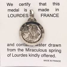 image is loading lourdes apparition holy water pendant direct from lourdes