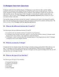 Ui Designing Interview Questions Ui Designer Interview Questions Pdf By Sandeeprjj123 Issuu