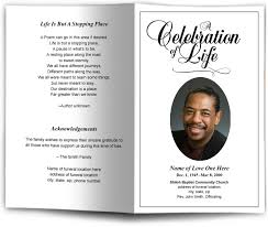 Sample Memorial Program Template