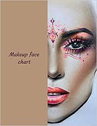 makeup face chart a blank makeup face chart for makeup artists la belle femme 9781729286333 amazon books