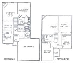 2 story 2 bedroom house plans