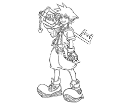 Small Picture Kingdom Hearts Coloring Pages Here Home Sora Sora And Friends