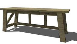diy desk cost. Free DIY Furniture Plans To Build A Pottery Barn Inspired Hendrix Large Desk Diy Cost