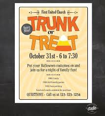 Event Flyers Free Trunk Or Treat Flyer Halloween Template In 2019 Trunk Or