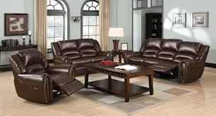 furniture of america cm69602pc 2 pc dundee dark brown bonded leather sofa and love seat with