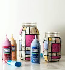 mason jar craft ideas stained glass mason jars