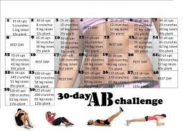 How To Get Abs In 30 Days Exercise Chart Study Fun