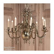 antique 19th century dutch renaissance solid bronze chandelier