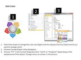 Colorful Diverging Of 5 Stages Diagram Arrows Chart Software