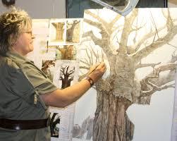 baobab and elephant painting