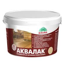 <b>лак акриловый д/пола АКВАЛАК</b> 2л бесцветный, арт.66360106 ...