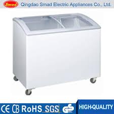 xs 366 curved glass door chest freezer