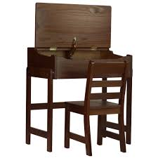 chair desk kids. kids slant desk with chair - walnut
