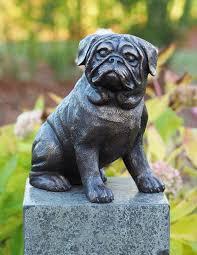 Solid Bronze Pug Dog Statue Garden ...