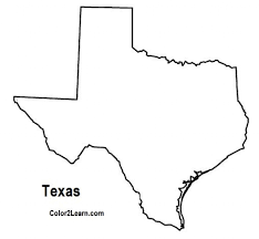 Small Picture Texas State Coloring Page Clipart Best inside Texas Flag Coloring