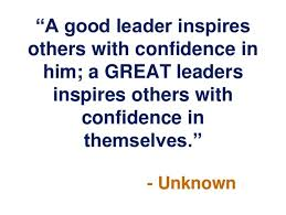 Good Leader Quotes Fascinating A Good Leader Inspires Others With Confidence In Him A Great Leaders