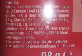 mixers cerise cola nutrition facts