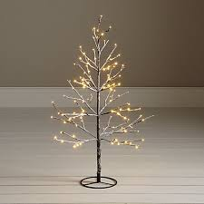 Buy John Lewis Pre-Lit Snowy Twig Christmas Tree, White, 4ft Online at