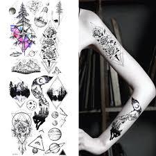 Dočasné Tetování Nálepka ženy Tělo Umění Nohy Vodotěsné Paži
