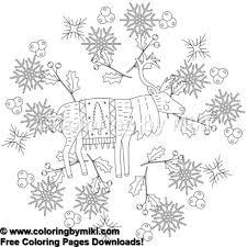 Winter Holiday Mandala Coloring Pages 1343 Christmas マンダラ