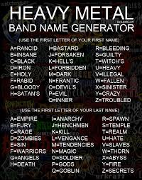 four letter name generator heavy metal band name generator metal bands heavy metal and