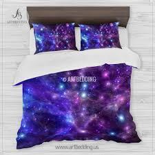 bold idea galaxy duvet cover bedding set space deep nebula stars uk canada