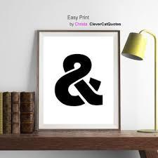 ampersand print ilration art black minimalist decor amper