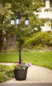 Mcleland Design 65 Madison Solar Powered Lamp Post With Planter
