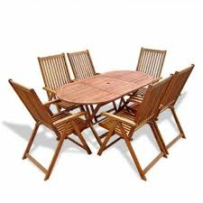 wood patio garden furniture sets for