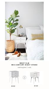white mid century nightstand. West Elm Mid-Century Nightstand For $300 Vs Living Spaces Alton White Night Table Mid Century S