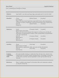 Unique Format For Resume Elegant Resume Reference List Format