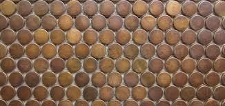 copper mosaic tiles penny round pattern essendon sunbury melbourne