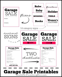 free garage sale signs garage sale printables want need love garage sale tips