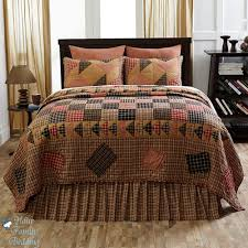 California king country quilt sets & Brown Country Plaid Patchwork Primitive Twin Queen Cal King Quilt Adamdwight.com