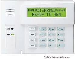 alarm system wiring for the main panel alarm system keypads