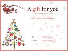 Christmas Blank Gift Certificate Template Free Magdalene