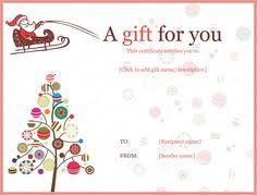 free printable christmas gift certificate templates free printable gift certificate template free christmas gift