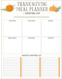 Thanksgiving Grocery List Template Thanksgiving Planner Template Elim Carpentersdaughter Co